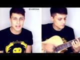 Хабиб Шарипов сыграл на гитаре кавер песни Элджэй - Розовое вино
