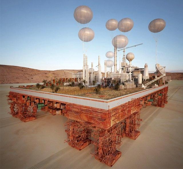 Французский архитектор Стефан Малка увлечен темой неиспользованного потенциала пустыни, его последняя разработка