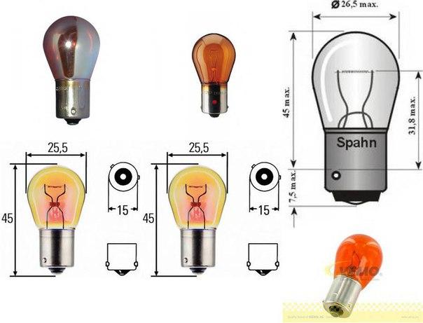 Лампа накаливания, фонарь указателя поворота; Лампа накаливания; Лампа накаливания, фонарь указателя поворота для AUDI A2 (8Z0)