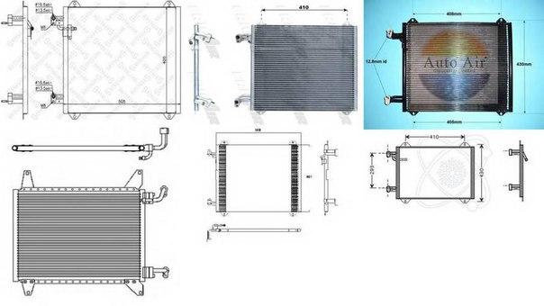 Конденсатор, кондиционер для AUDI A2 (8Z0)
