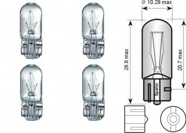 Лампа накаливания, задний гарабитный огонь; Лампа накаливания, стояночные огни / габаритные фонари для AUDI A4 кабрио (8H7, B6, 8HE, B7)