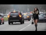 Julie Skyhigh, Hooker in fox fur jacket raccoon & high heels boots  PUBLIC FLASHING & furfetish