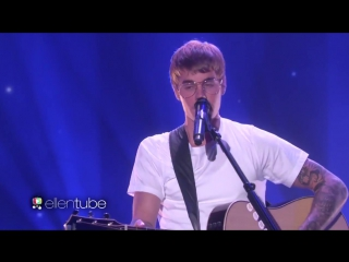 Justin Bieber - Cold Water Live On The Ellen Show