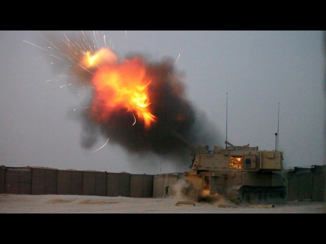 Battle of Mosul 2016 - US Army Artillery M142 HIMARS Heavy Fire Support | Iraq War