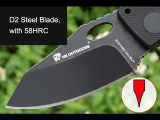 Легендарный EDC- нож HX OUTDOORS D-153, D2, 58HRC, G10