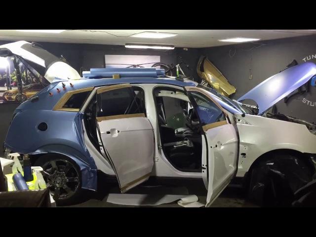 Полная оклейка Cadillac SRX в пленку AveryDennison