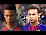 COMPARANDO AS FACES DO PES 18 X FIFA 18!!! (COM NEYMAR, GABRIEL JESUS ETC)