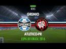 Gol - Grêmio 0 x 1 Atlético-PR - Copa do Brasil - 21/09/2016
