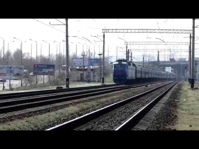 [УЗ] Электровоз ЧС7-293 с поездом Львов - Бердянск