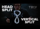 TRIX LESSONS 5: хэд сплит и вертикал сплит | head split vertical split (вейп трюки | vape tricks)
