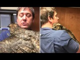 Owl Missed The Man Who Saved Her So Much She Couldnt Stop Hugging Him