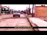 Сирийский танк уничтожает пикап ИГИЛ с зенитным пулеметом.