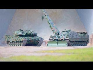 Rheinmetall Defence - Leopard 2PL Основной боевой танк и Buffalo Бронированная эвакуационная машина 3 [1080]