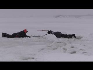 Ролик спасения на льду на татарском