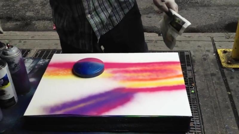 уличный художник картинки за 3 минуты Sivera
