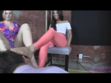 Jenna and Jennifer - Humiliate an Asian Foot Slave  foot worship smelling fetish feet smother domination trample