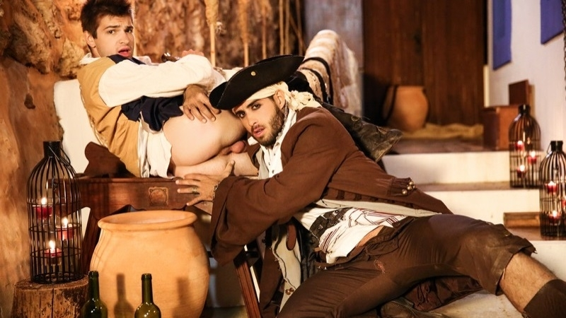 ПОХОТЛИВЫЙ ЖЕРЕБЕЦ Pirates A Gay XXX Parody Part 1 Diego Sans Fucks Johnny
