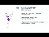 A89 - STANDING SPLIT 180 - (0.5) - CODE OF POINTS (POSA - Pole Sports & World Arts Federation)