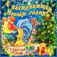 С наступающим Новым годом! Пусть счастье к вам приходит в дом!