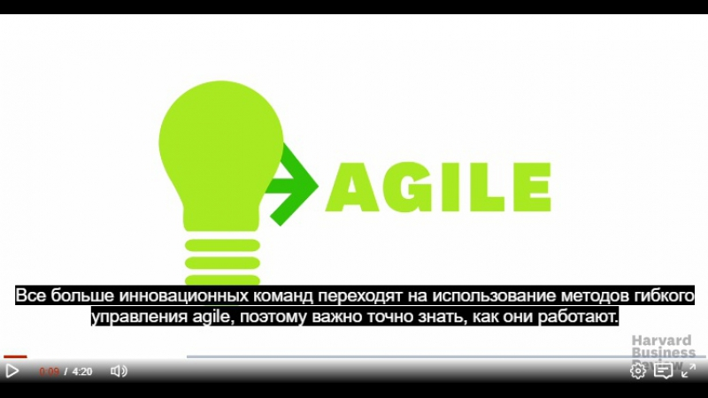 A quick introduction to agile management - hbr video