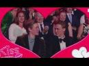 Henrik y Tarjei besándose para la kisscam de los premios Gullruten