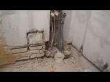Своими руками прячем трубы в стены,в ванной комнате ч.2