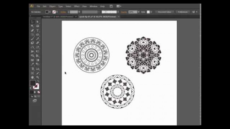 Как нарисовать круговой орнамент в Adobe Illustrator