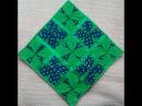 33- Beautiful mat/cushion cover using leftover cloth (hindi/urdu)