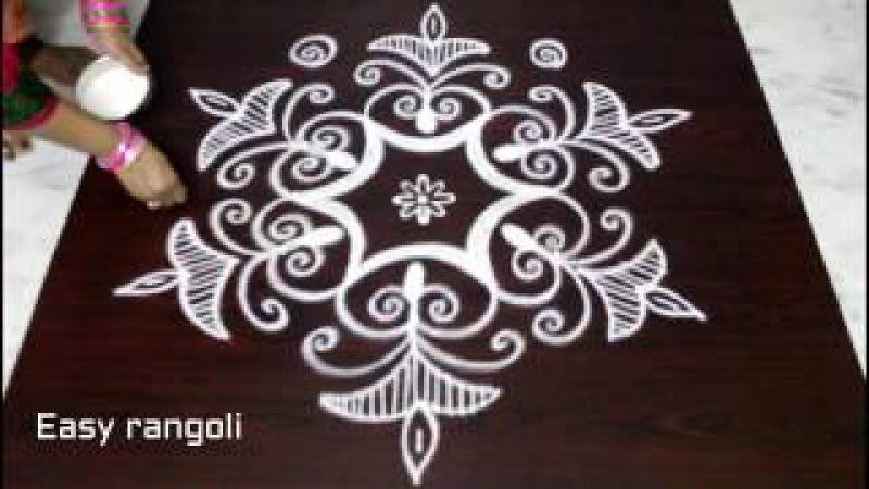 Easy rangoli designs with 5x3 dots || kolam designs with dots || muggulu designs with dots