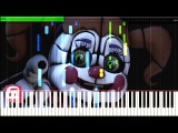 Join Us For A Bite - FNAF Sister Location Song by JT Machinima Synthesia Piano Tutorial