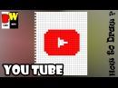 Как нарисовать по клеточкам ЮТУБ / YouTube поэтапно. Рисуем по клеточкам ЮТУБ / YouTube п...