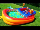 Челлендж Бассейн в Бассейне !! Николь и Алиса попали в Шторм / Bad Baby Storm in the Swimming Pool