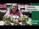 Como fazer Vasinhos com Morangos, Alhos e Abóboras de Tecidos - Parte 2