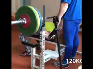 Наталья Самарина, жим лёжа 105,112,5 и 120 кг