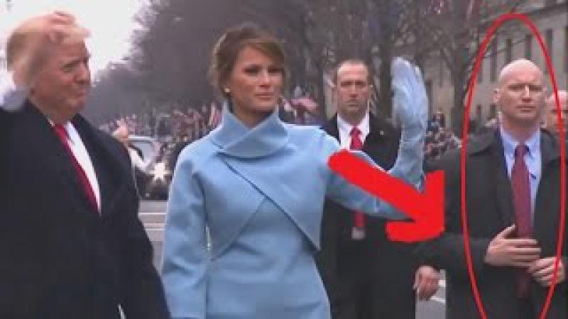 У телохранителя Дональда Трампа вместо рук протезы? Видео с инаугурации президе...