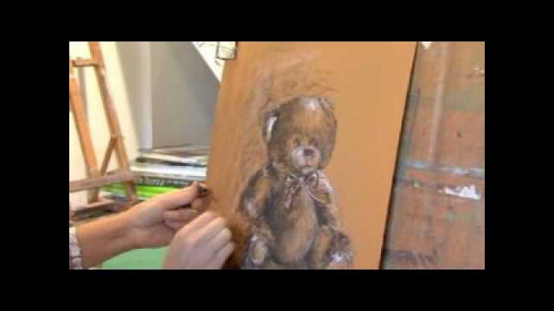 Canson® présente : Dessiner un ours en peluche au fusain par Delphine Priollaud