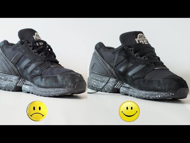 Реанимируем кроссовки и восстанавливаем цвет замши на примере Adidas EQT