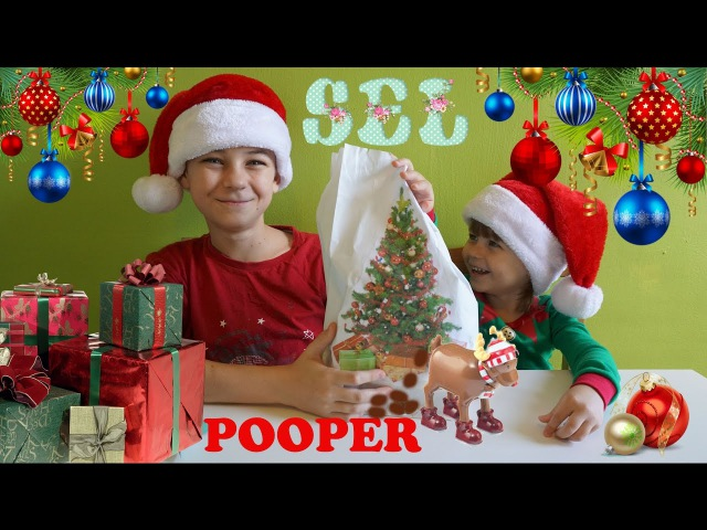 Американские Новогодние Сладости Едим Какашки Оленя и Снеговика