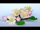 Olga Kwiaty jabłoni z foamiranu tutorial цвет из фоамирана foamiran flowers apple blossoms