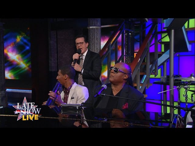 Stevie Wonder - Don't You Worry 'Bout A Thing (The Late Show with Stephen Colbert)