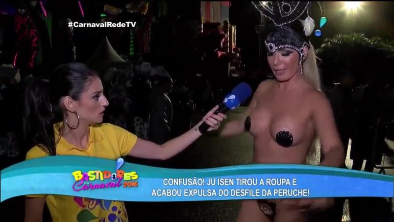 Ju Isen Deixa Repórter Colocar Tapa Sexo Antes do Desfile da Unidos do Peruche | Brazilian Girls vk.com/braziliangirls