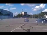 Мото дтифт Subaru vs Yamaha r1