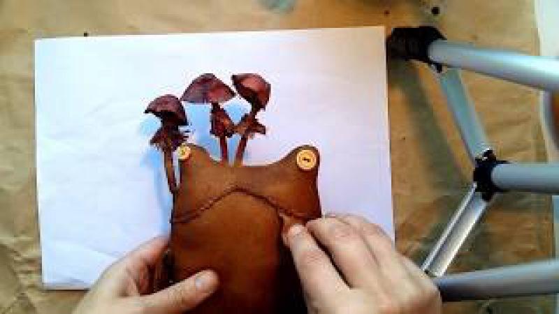 Шьем лягушку первый урок. Примитивный мир.Making a simple rag doll.