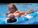 Funny baby and Baby born doll Play on the swimming pool and playground for kids Baby Nursery Rhymes