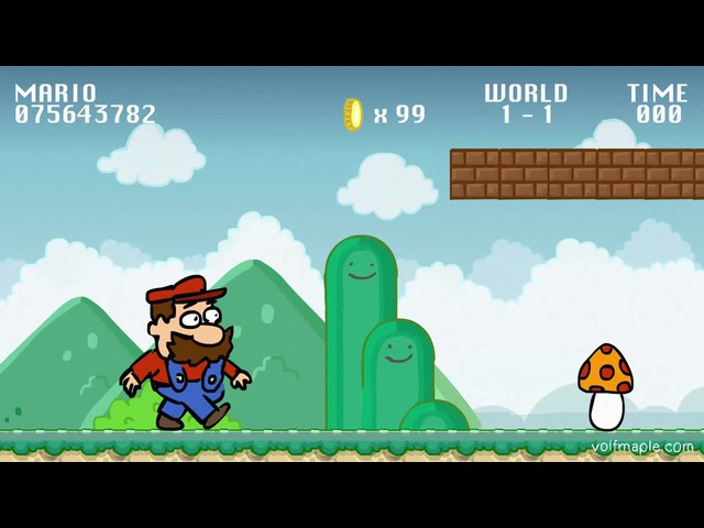 Super Mario on Steroids (animation by VolF Maple)