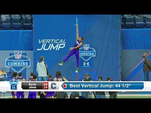 Byron Jones Рекорд Мира в прыжке в высоту и в длину среди игроков в америк футбол