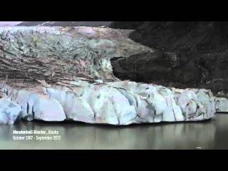 Видео ускоренная съемка , показывает истощение ледников