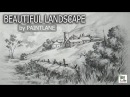 How to draw and shaded a Beautiful Landscape with STEP BY STEP | Sketching | Drawing Tutorial