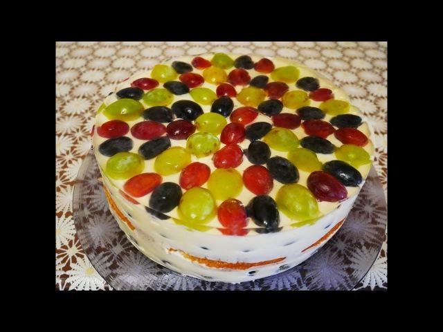 на ДЕСЕРТ рецепт ВИНОГРАДНЫЙ торт рецепт Сладкий десерт Творожный десерт Вкусн ...