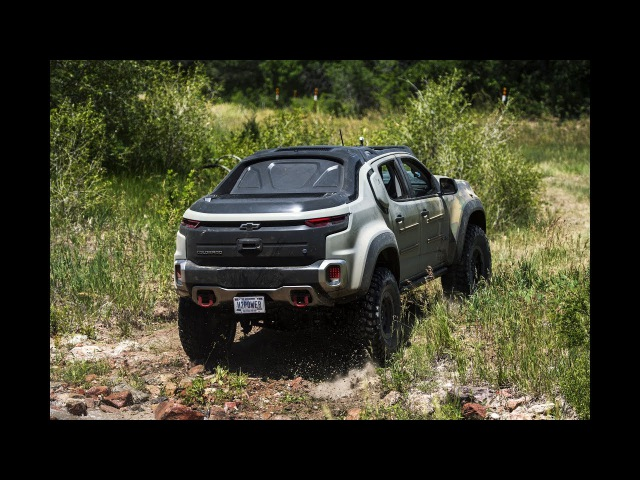 Riding off road in the U S Army's Chevrolet Colorado ZH2 fuel cell electric truck